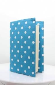 Текстилна подвързия за книга - Сини точки
