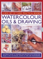 Watercolour oils & drawing: a box set of three practical books